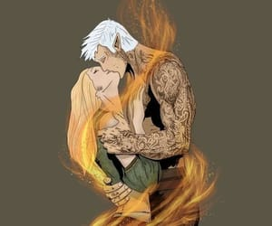 tog, rowan whitethorn, and throne of glass image
