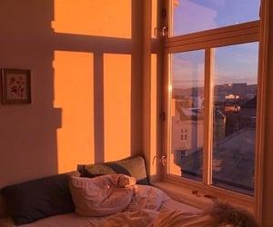 sunset fills the room