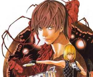 death note, light, and misa amane image