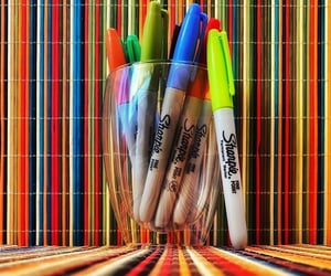 sharpies, striped, and stripes image