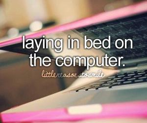 computer, pink, and quote image