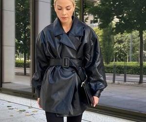 black, monochrome, and stylish girl image