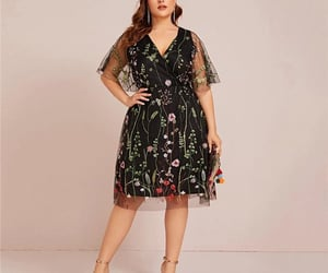 embroidered, plussizefashion, and lookinspo image