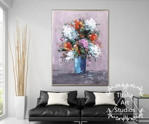abstract, knife painting, and natural canvas art image