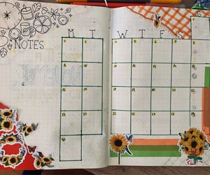 november, bullet journal, and monthly schedule image