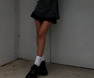 black shoes, black sweater, and everyday look image