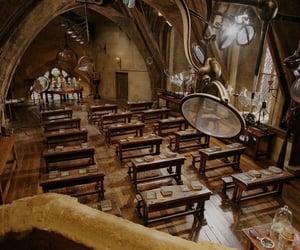 harry potter, classroom, and hogwarts image