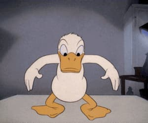 disney, gif, and donald duck image