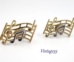 musical notes, treble clef, and vintage55 on etsy image