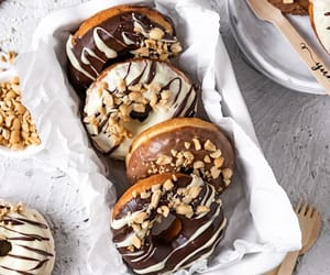 chocolate, desserts, and donuts image