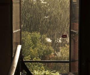 rain, window, and aesthetic image