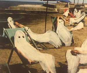 beach, art, and ghost image