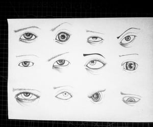 drawing, eyes, and goz image