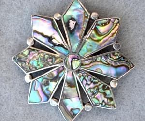 Talleres de Los Ballesteros Sterling Abalone Early Brooch or image 0