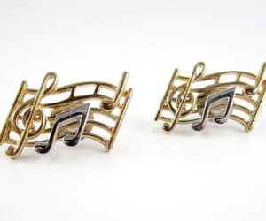musical notes, treble clef, and musical brooch image