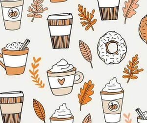 coffee, autumn, and donut image