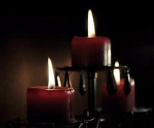 candle, dark, and flame image