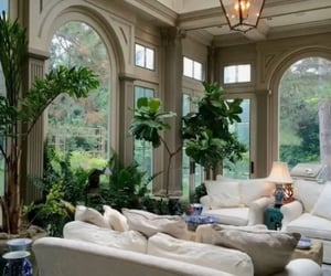 green, interior design, and living room image