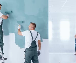 interior painting, pressure washing, and exterior painting image