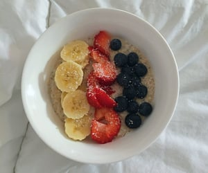 banana, blueberry, and breakfast image