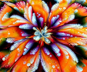 abstract, article, and flowers image