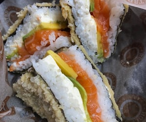 food, sandwich, and sushi image