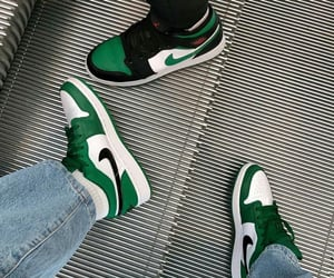 cyber, nike, and green image