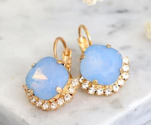 etsy, bridesmaids gifts, and blue drop earrings image