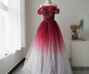 girl, long dress, and prom dress image