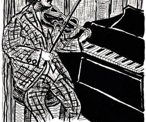 Albert Einstein, arte, and caricatura image
