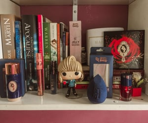 books, collection, and makeup image