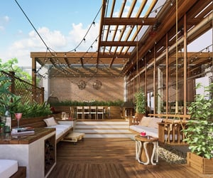 deck, swing, and terrace image