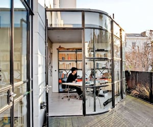 deck, glass, and home office image
