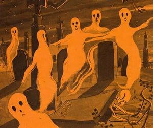 ghost, orange, and Halloween image