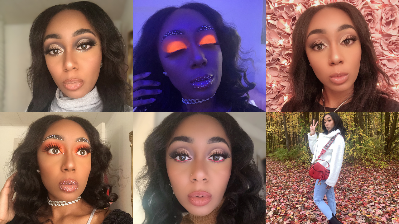 article, makeup, and rhinestones image