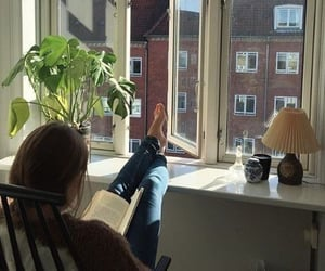 aesthetic, book, and girl image