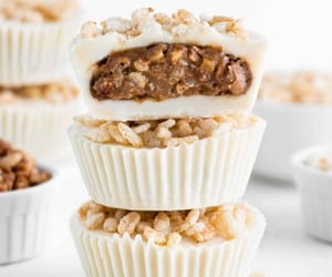 """everythingwithwasabi:""""Crispy White Chocolate Almond Butter Cup"""""""