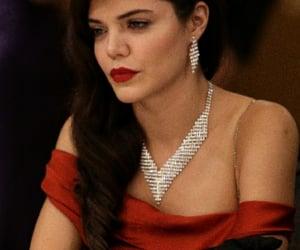 femme fatale, red lips, and vintage image