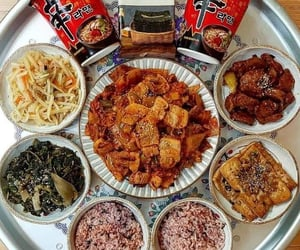 food, side dishes, and korea image