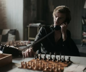 blonde, chess, and sexy image