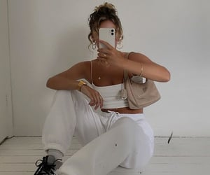 bags, blonde, and outfit image
