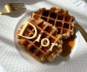 food, dior, and waffles image
