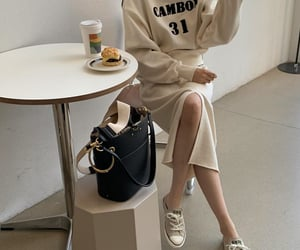 beige, cream, and fashion image