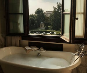 aesthetic, bathtub, and view image