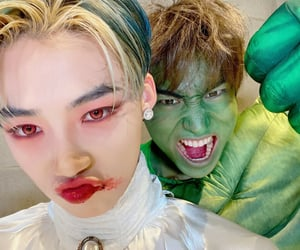 Halloween, selca, and chanhee image