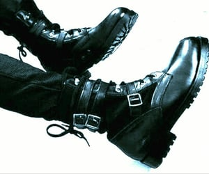 black, edgy, and boots image