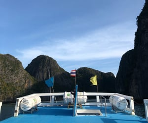 summer, boat trips, and thailand image