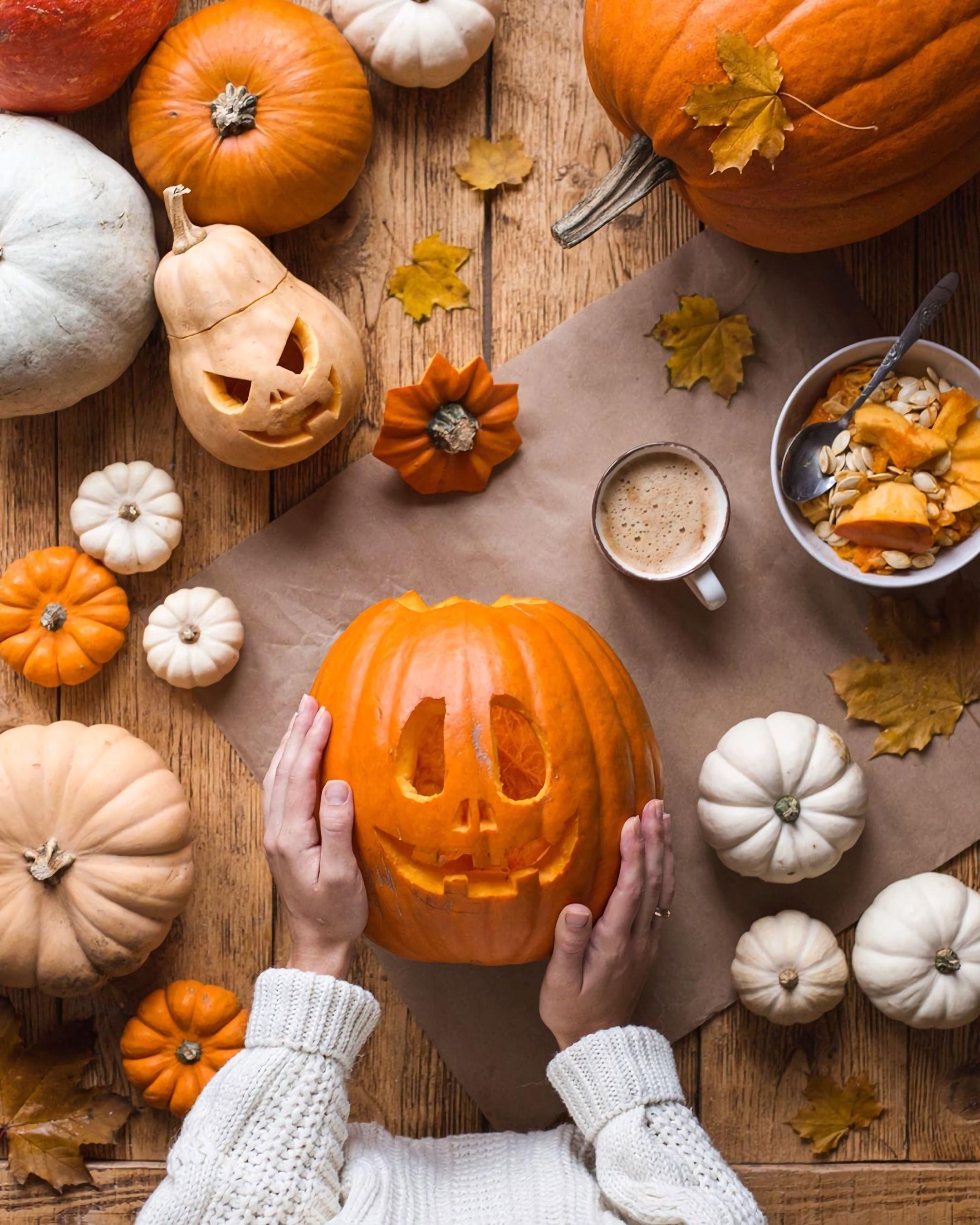 pumpkin, autumn, and october image
