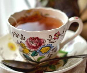 tea, cup, and girly image