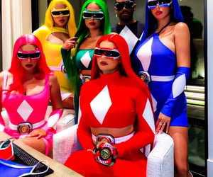 power rangers, friends, and costumes image